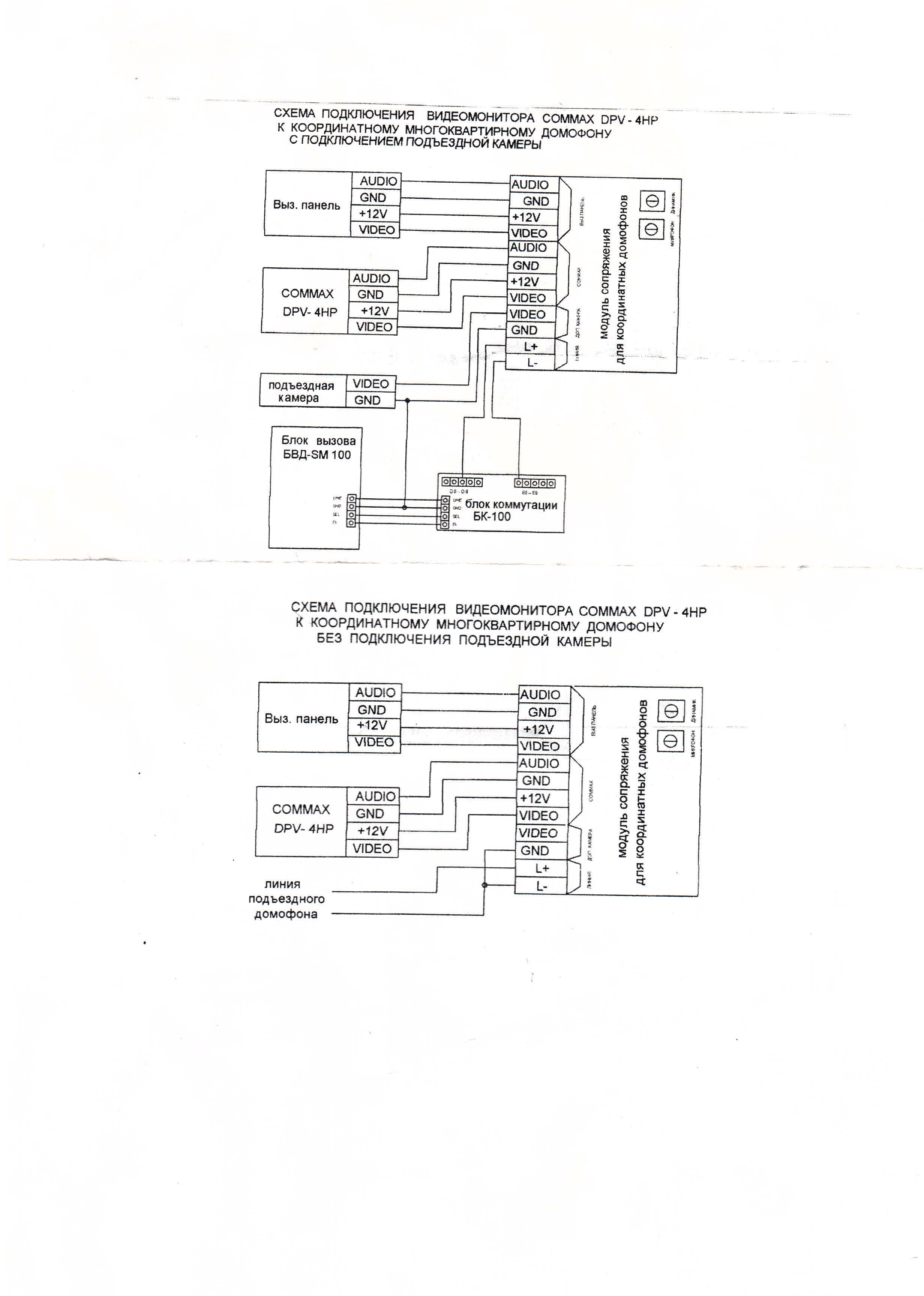 схема подключения многоквартирного домофона vizit видео